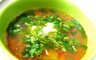 Вегетарианский суп с фасолью - фото шаг 6