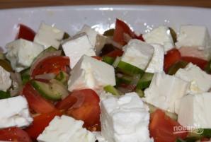 """Греческий салат"" с брынзой - фото шаг 8"