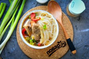 Суп с рисовой лапшой и говядиной - фото шаг 9