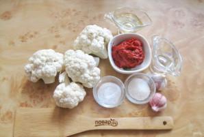 Цветная капуста в томатной заливке - фото шаг 1