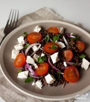 Салат с чечевицей и сыром фета - фото шаг 4