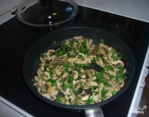 Салат с жареными грибами и сыром - фото шаг 5