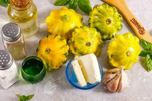 Маринованные патиссоны с сыром фета - фото шаг 1