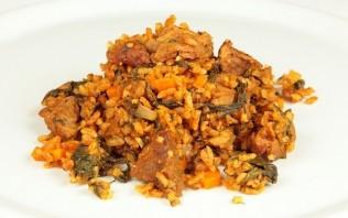Рис с мясом и овощами на пару - фото шаг 9