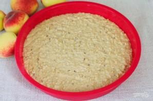 Овсяный пирог с персиками - фото шаг 6