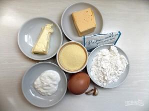 Насыпной сырный пирог - фото шаг 1