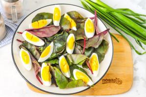 Салат из листьев свеклы - фото шаг 3