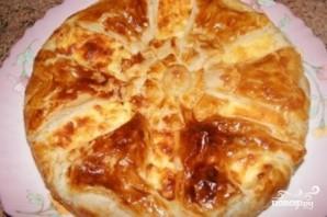 Сырный пирог из слоеного теста - фото шаг 7