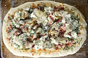 Пицца с беконом и артишоками - фото шаг 3