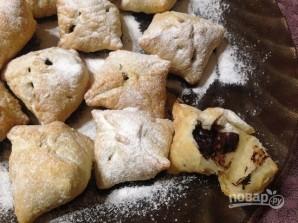 Слоеные печенья с шоколадом и орехами - фото шаг 6