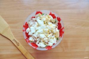Салат с курицей и маринованными огурцами - фото шаг 5