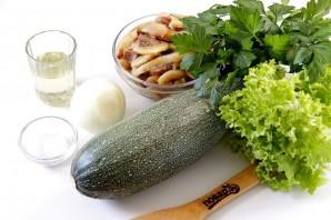 Салат из кабачков и шампиньонов - фото шаг 1