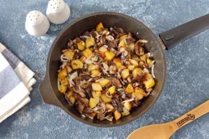 Пирог с маринованными грибами и картофелем - фото шаг 4