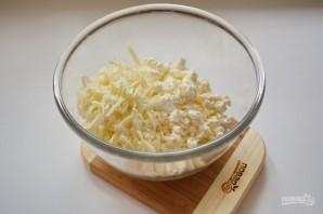 Витой пирог с творожно-сырной начинкой - фото шаг 2