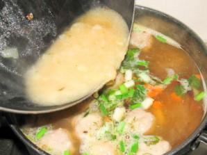 Мексиканский фасолевый суп с фрикадельками - фото шаг 5