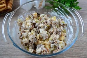 Мясной салат с блинчиками - фото шаг 8