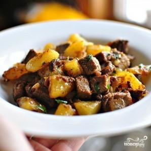 Жареная картошка с мясом - фото шаг 11
