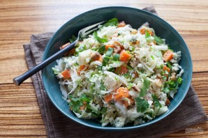 Салат из пекинской капусты с сыром - фото шаг 6