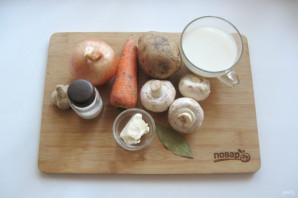 Грибной суп с молоком - фото шаг 1