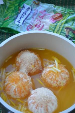 Карамельные мандарины - фото шаг 4