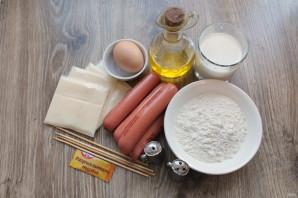Сосиски в панировке с сыром - фото шаг 1