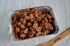 Тыква в сметанном соусе в духовке - фото шаг 6