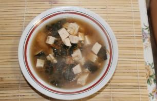 Мисо суп с креветками - фото шаг 8