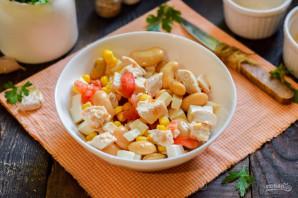 Салат с фасолью и брынзой - фото шаг 7