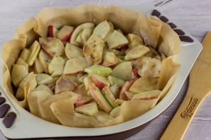 Яблочный пирог (мало теста, много яблок) - фото шаг 5