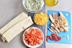 Закуска из лаваша с курицей - фото шаг 5