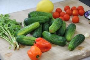 Летний овощной салат - фото шаг 1