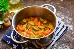 Лечо с помидорами и огурцами - фото шаг 7