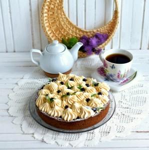 Тарт с черникой, лавандой и кремом из ряженки - фото шаг 10