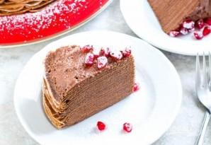 Торт из блинов с шоколадным муссом - фото шаг 5