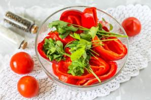 Соленые помидоры с перцем - фото шаг 4