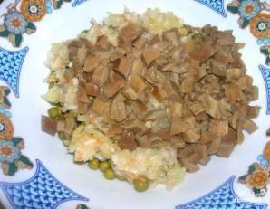 Салат по-деревенски с грибами - фото шаг 3