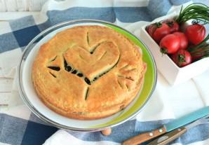Пирог с сердцем внутри - фото шаг 13