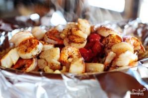 Паста с морепродуктами и помидорами - фото шаг 6