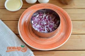 Слоеный салат из редьки - фото шаг 3