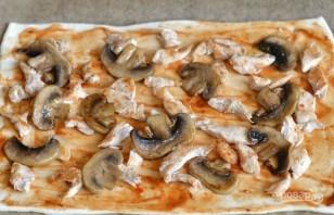 Пицца простая без дрожжей - фото шаг 4