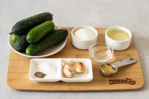 Огурцы по-корейски с горчицей