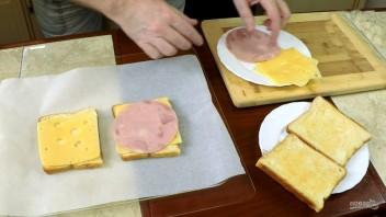 """Тёплый завтрак """"Крок мадам и крок месье"""" - фото шаг 3"""