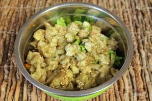 Салат из печеных баклажан с помидорами и чесноком - фото шаг 6