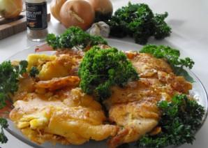 Курица в кляре на сковороде - фото шаг 8