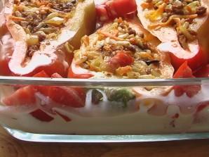 Перцы с фаршем в духовке - фото шаг 7