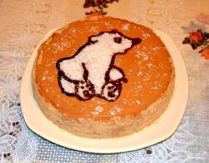 Детский торт с мишкой - фото шаг 6