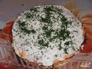 Блинный пирог с курицей, грибами и творогом - фото шаг 15