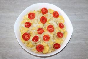 Окунь запеченный с картошкой в духовке - фото шаг 8