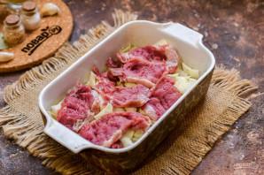 Капуста слоеная с мясом