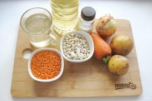 Суп из фасоли и чечевицы - фото шаг 1